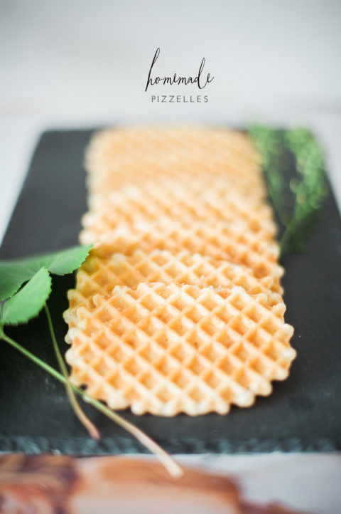 Homemade pizzelles