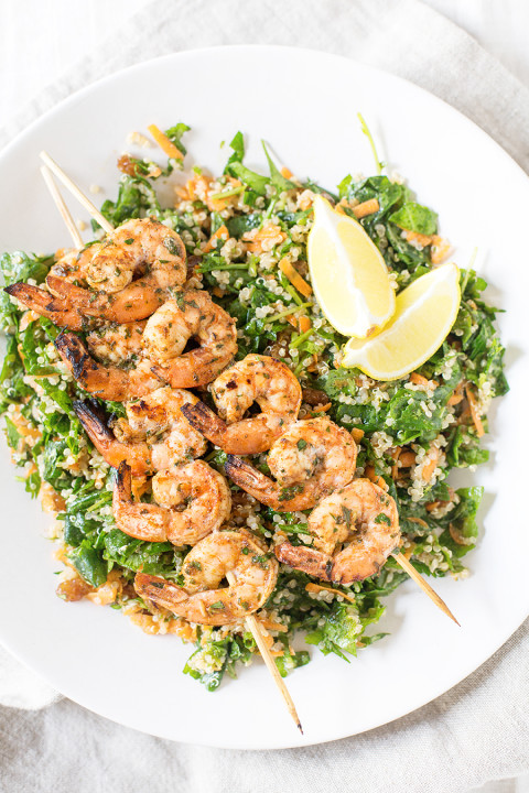 10 minute weeknight meal: Moroccan grilled shrimp