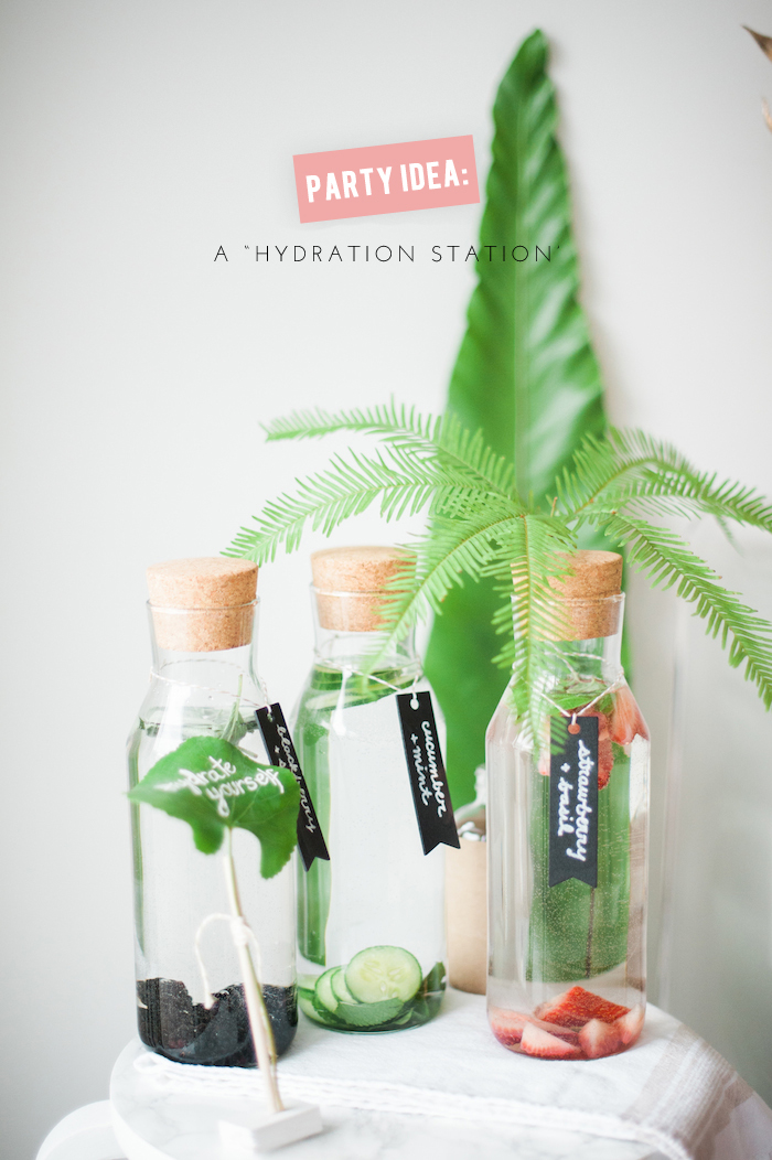 """hydration station"" - cute party idea"