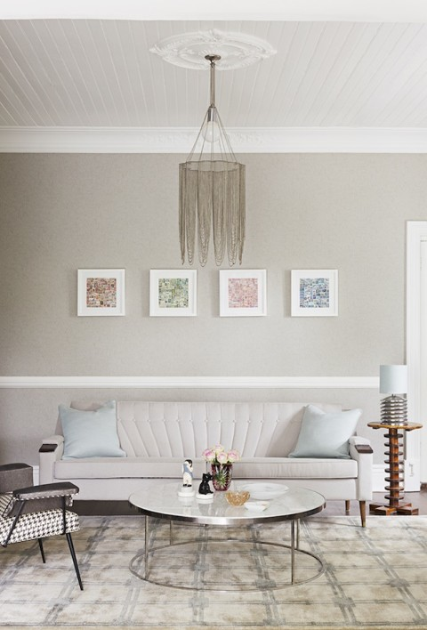 shades of pastel in the living room