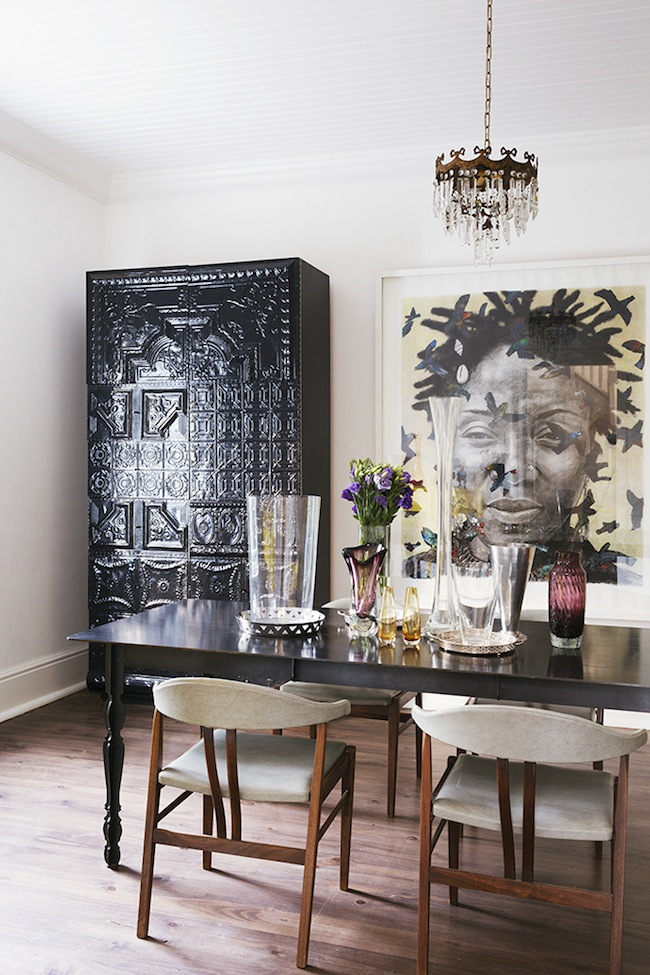House envy a modern victorian lark linen for Eclectic dining room ideas