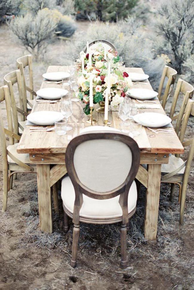 dining table outside