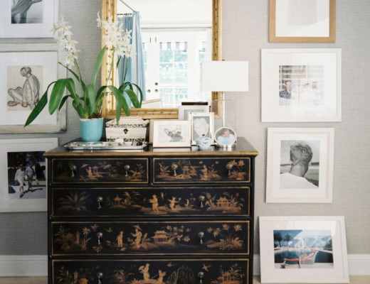 eclectic dresser styling