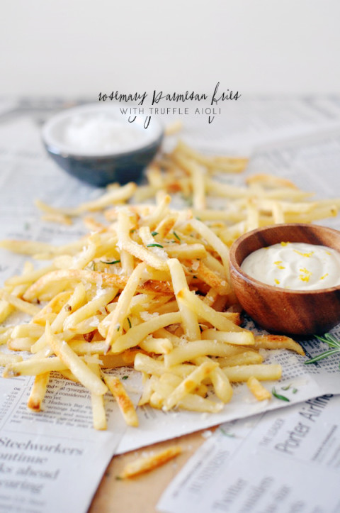 rosemary parmesan fries with truffle aioli (a recipe)