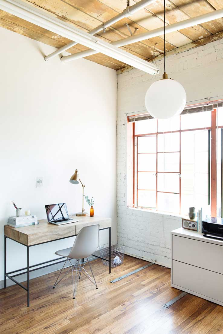 Wood and white office