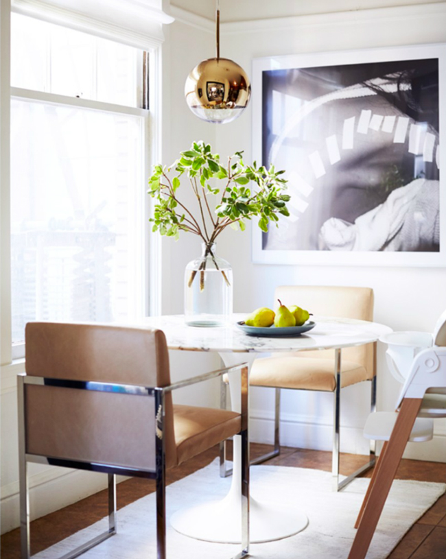 San Francisco Home Tulip Table Dining Room