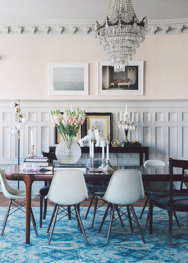 Dining Room Dark Romantic: All Out Glam Meets Modestly Modern