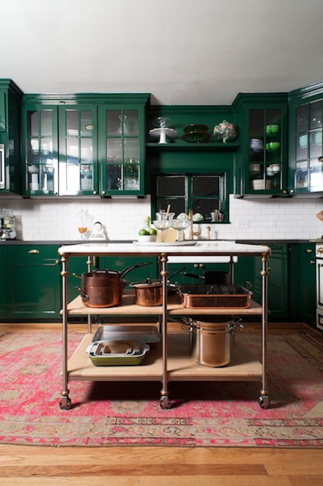 Inspiration emerald green kitchens lark linen for Green kitchen pictures