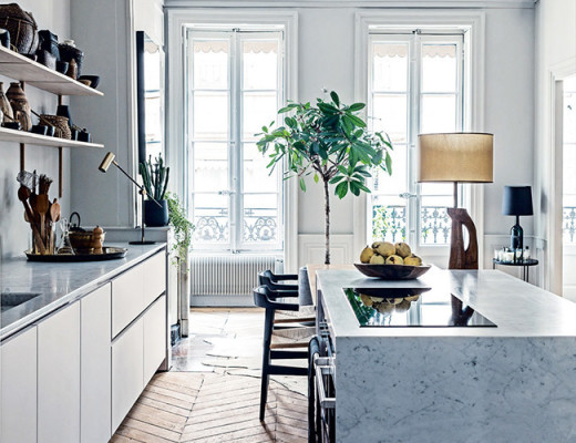 modern kitchen in france