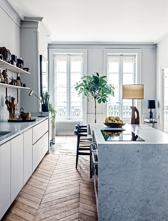 incredible french kitchen design | The Most Incredible Modern Apartment, From 1852 | lark & linen
