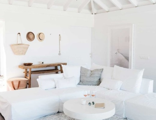 white living room