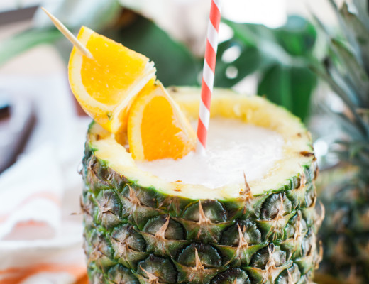 coconut pineapple cups