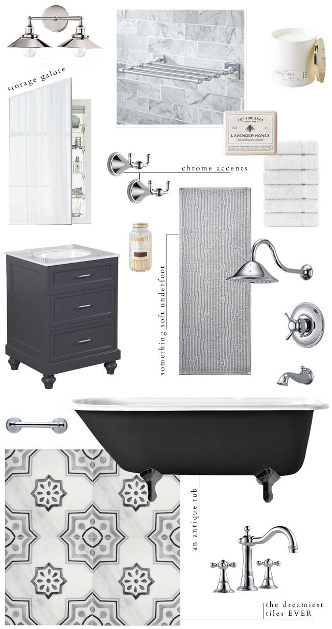 Our Bathroom Design Plans | lark & linen