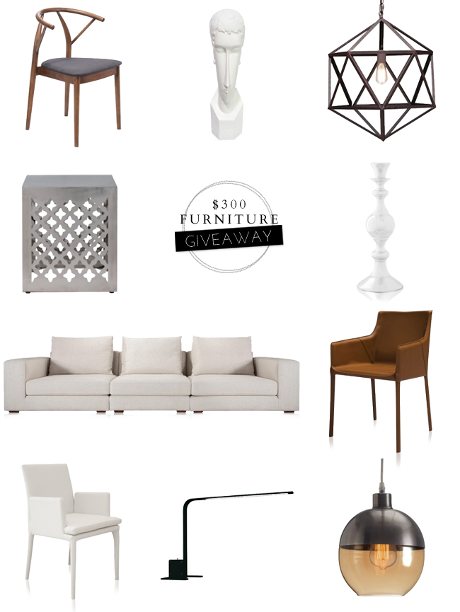 $300 Furniture Giveaway