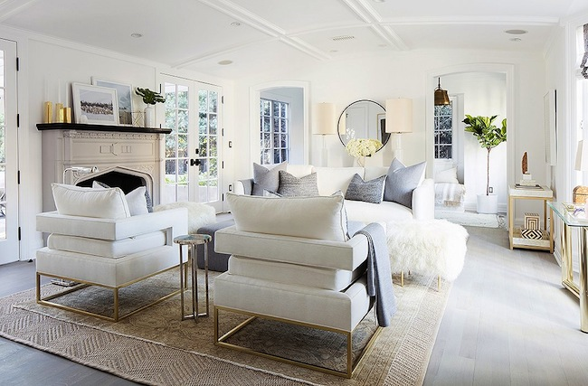 Elegant White Gold Living Room   White And Gold Living Room