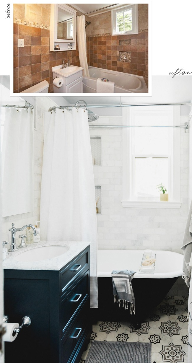 our teeny tiny bathroom reveal | lark & linen