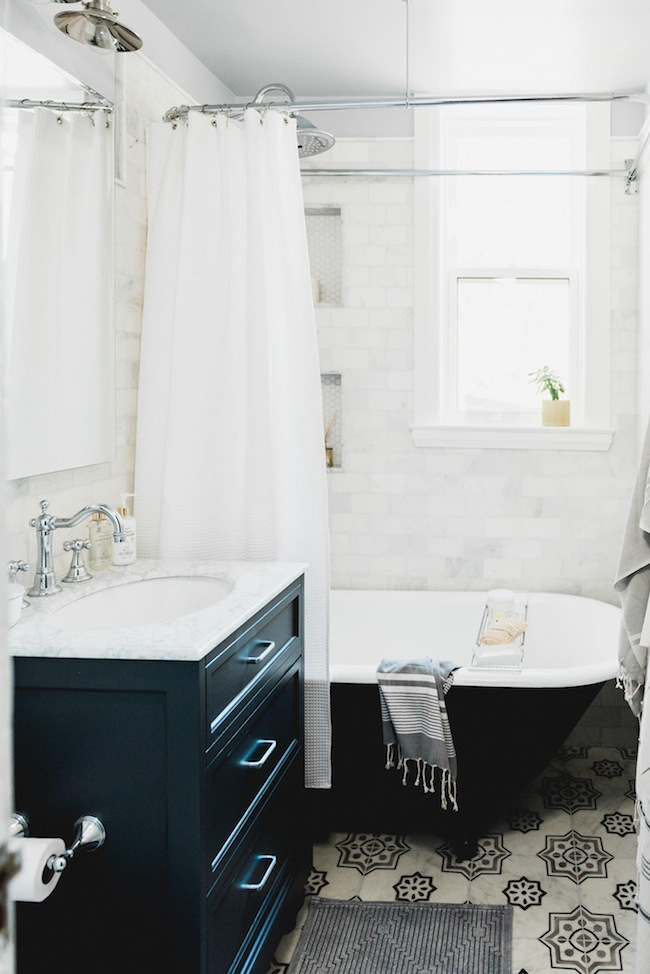 Our Teeny Tiny Bathroom Reveal Lark Linen - Tiny bathroom makeover