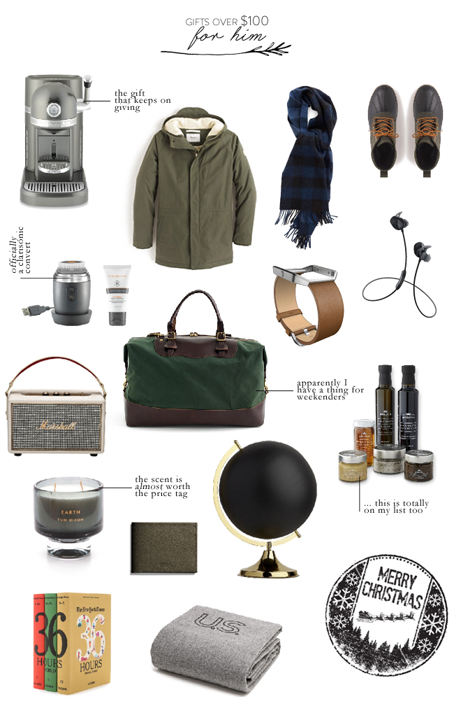 45 splurgey christmas gift ideas for everyone on your for Luxury gift ideas for him