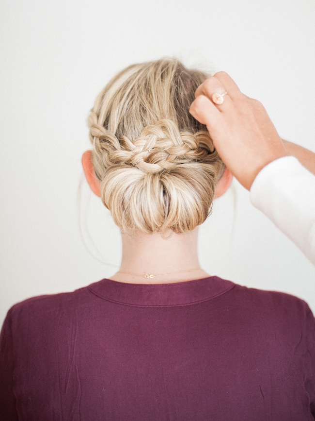 simple braided updo
