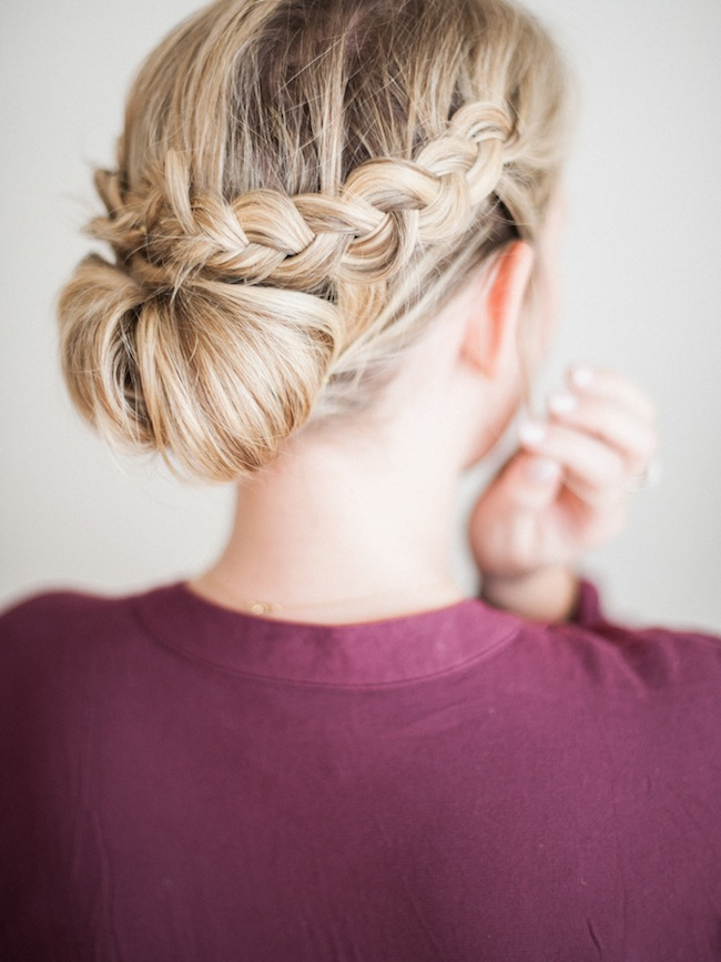 Holiday Hair How To The Braided Updo Lark Linen
