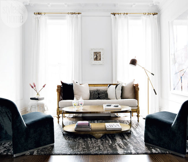 Brownstone Interior Design: Tour A Modern Glam Brownstone