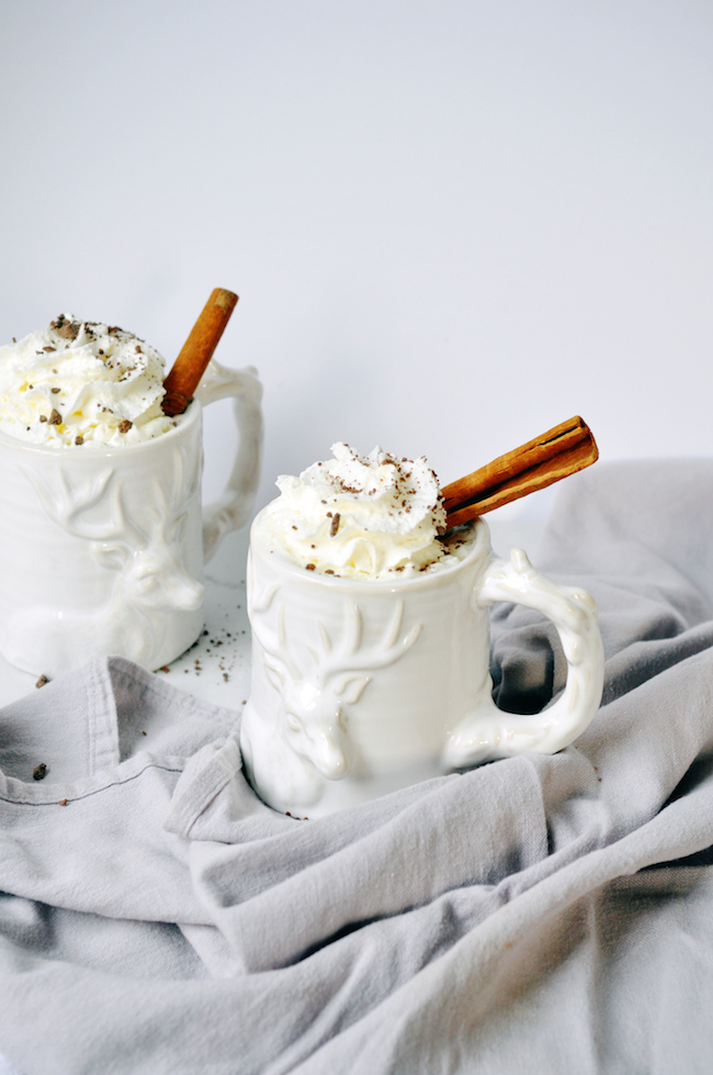 spiced white hot chocolate