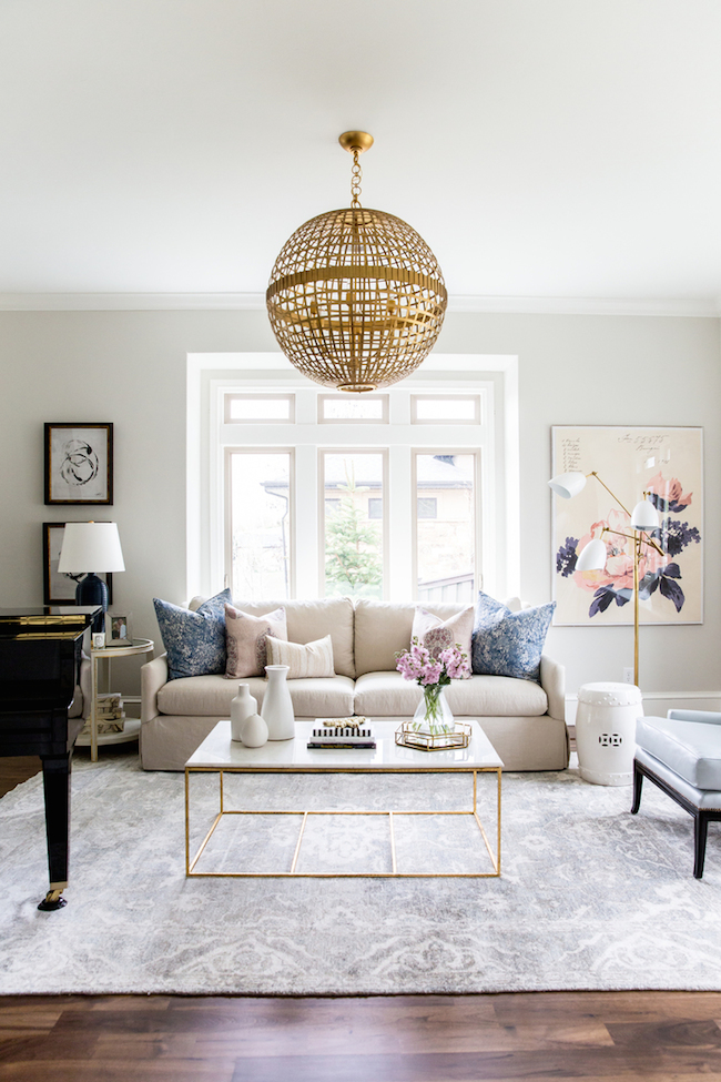 Navy,+Blush+and+Gold+Living+Room+by+Studio ...