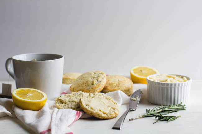 Lemon + Rosemary Biscuits with Lemon-Honey Butter-11