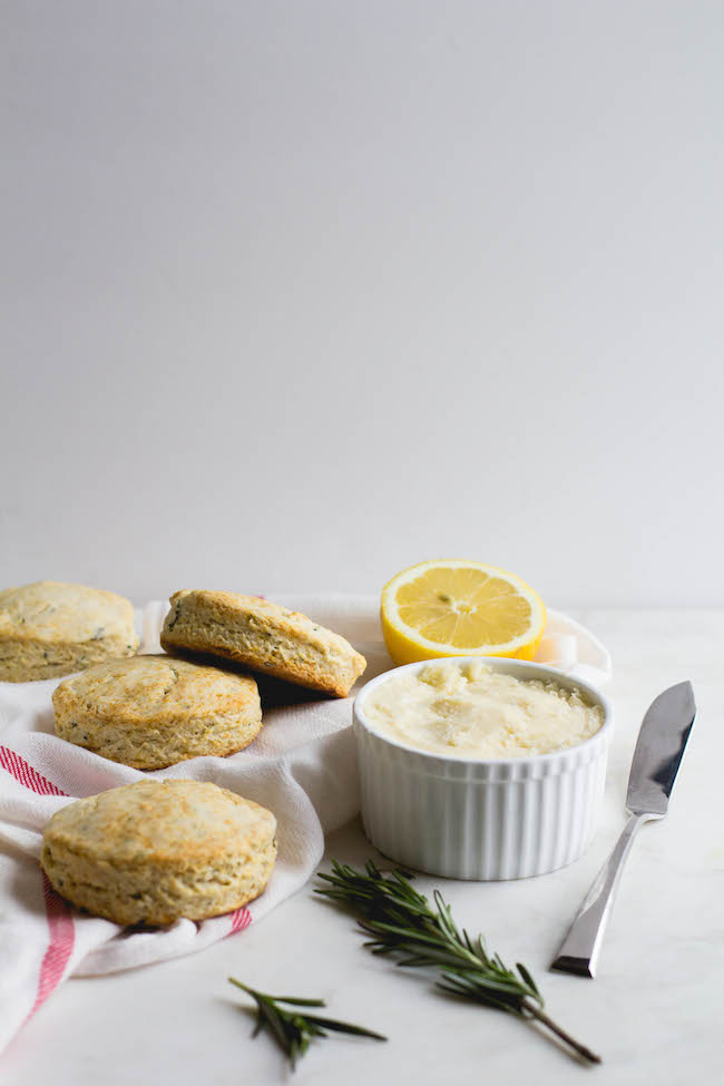 Lemon + Rosemary Biscuits with Lemon-Honey Butter-8