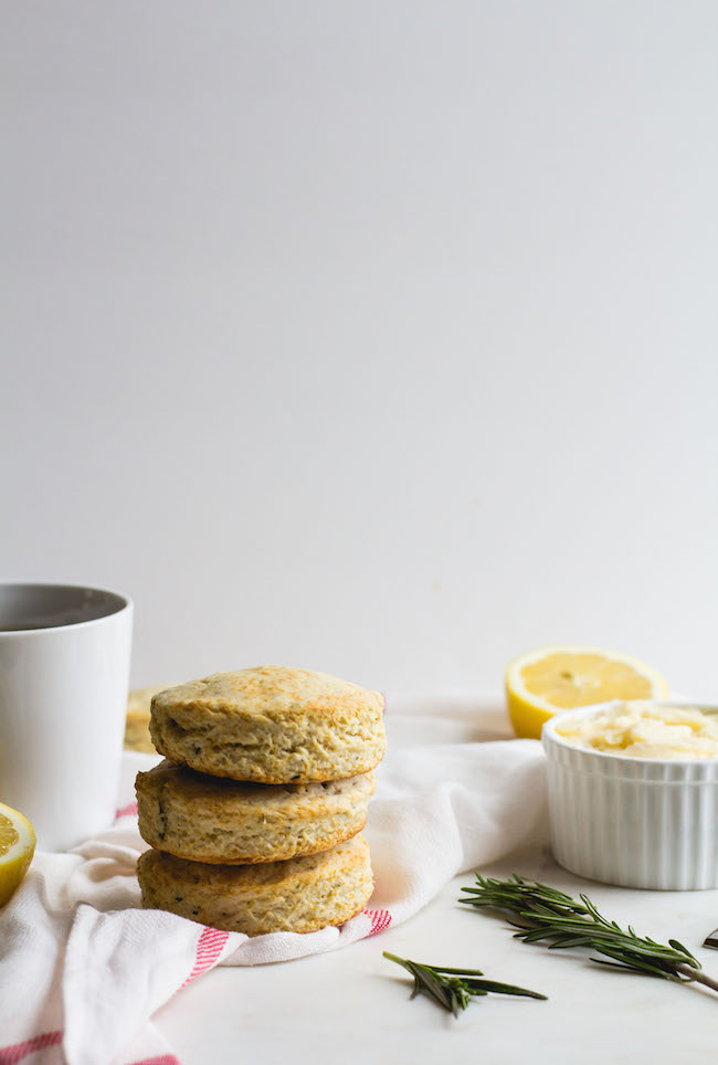 Lemon + Rosemary Biscuits with Lemon-Honey Butter-9