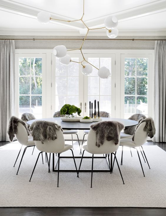 Get the look rustic modern dining room lark linen for Modern rustic design definition