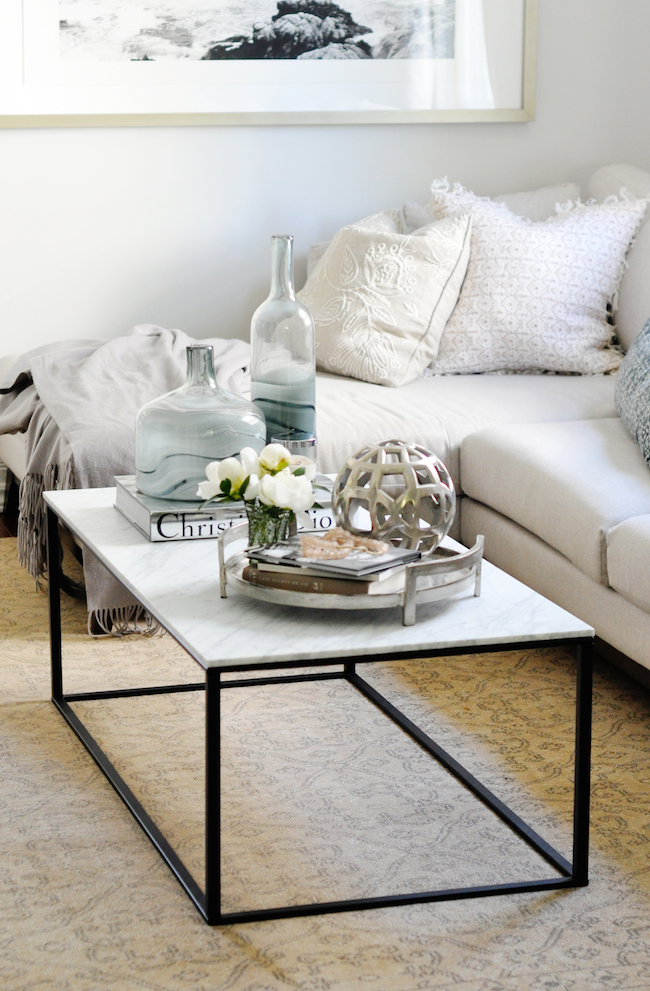 In Most Cases There Are Typically Five Main Components That I Always Use To Style My Client S Coffee Tables A Tray Corral All Of Those Loose Bits And