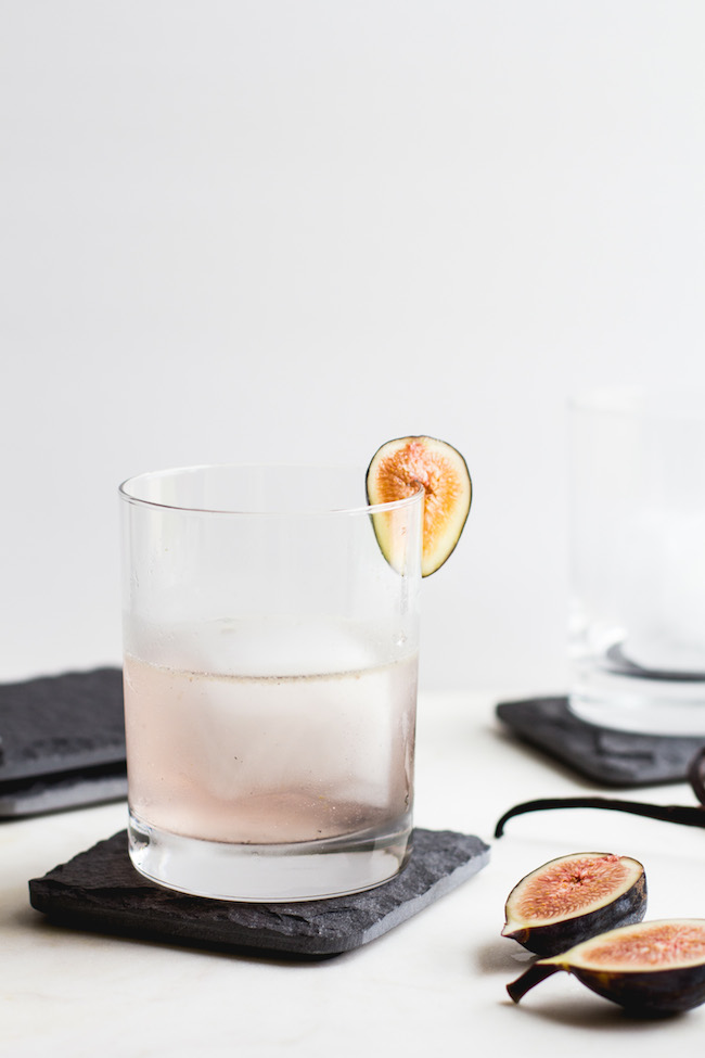 Fig, Vanilla Bean + Gin Cocktail-3
