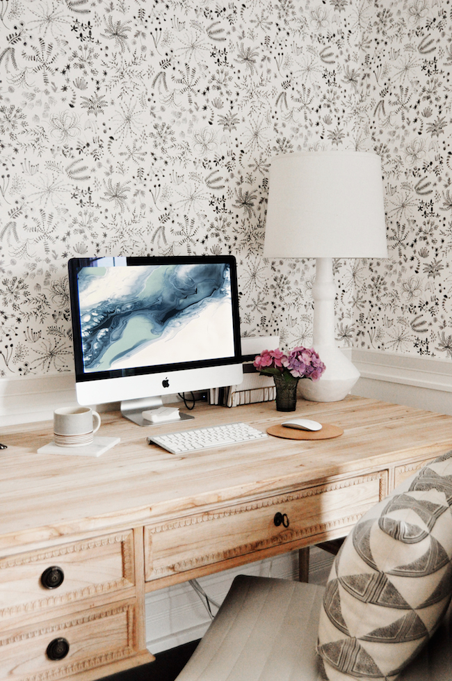Home office wallpaper Trendy Elegant Home Office Digsdigs Free Marble Desktop Wallpaper Lark Linen