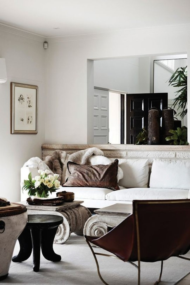 white ivory living room