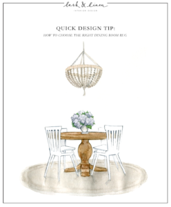 Quick Design Tip: How To Choose the Right Dining Room Rug | lark & linen