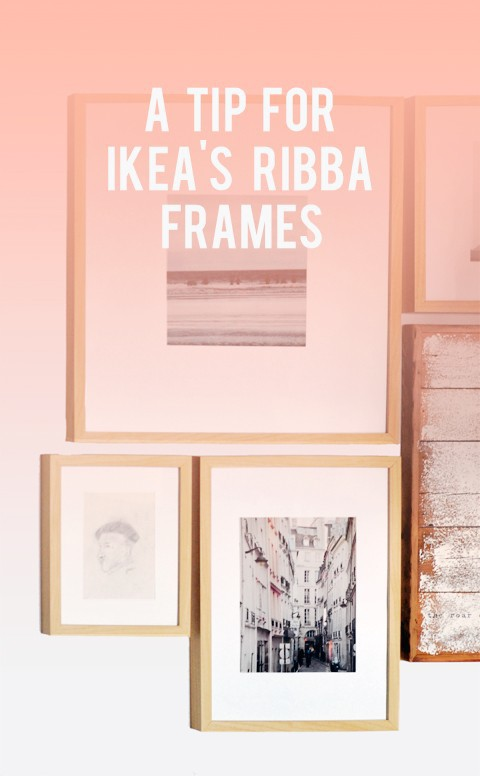 A Tip for Ikea Ribba Frames