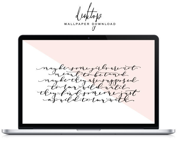 Free Calligraphy Desktop Wallpaper