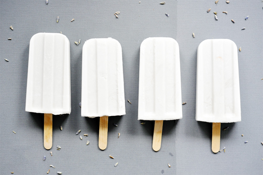 Healthy Honey Lavender Popsicles
