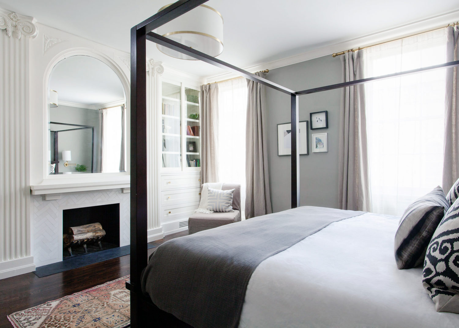 a centuries old home gets some serious love lark linen 18160 | colonial master bedroom